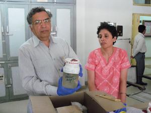Tirath Das Dogra - Dogra with Anupuma Raina, senior scientist at FSL Madhuban, Karnal