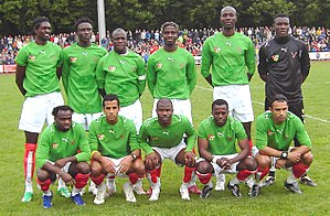 Togo national football team - Members of the Togolese national football team before a warm-up match in Biberach/Riss a few days before the 2006 World Cup