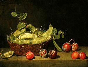 Pea - Pea in a painting by Mateusz Tokarski, ca. 1795 (National Museum in Warsaw)