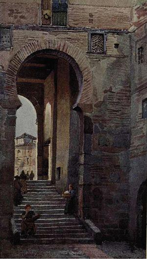 Alexander Wallace Rimington - Toledo - Puerta de Zocodover, from The Cities of Spain