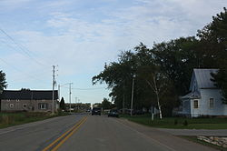 Looking east at downtown Tonet