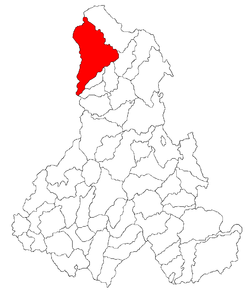 Location of Topliţa