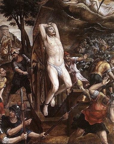 Микаэл ван Кокси. «Мученичество святого Георгия»