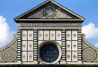 Leon Battista Alberti - The upper storey of Santa Maria Novella