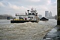 Towboat R. W. Naye upbound in Portland Canal Louisville Kentucky USA Ohio River mile 605 1999 file 99b034.jpg