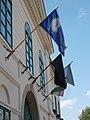 Town Hall, flags, 2019 Kunszentmiklós.jpg