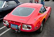 From the rear, the E-Type influence is less apparent.