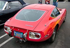 Toyota 2000GT - Toyota 2000GT from rear