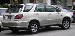 Toyota Harrier (first generation) (rear), Serdang.jpg