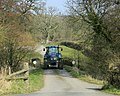 Tractor approaching the B3092 - geograph.org.uk - 1237743.jpg