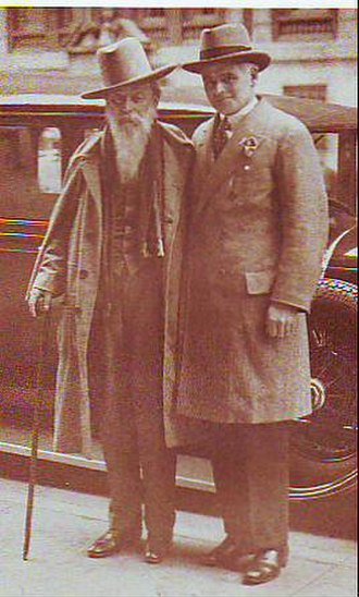 Trader Horn - Trader Horn (left) with Andrew Dakers, the literary agent for Ethelreda Lewis, in New York City in 1927.