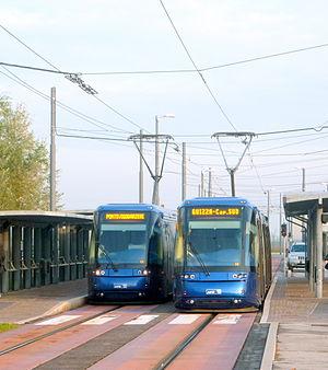 Trams in Padua - Image: Tram padfova