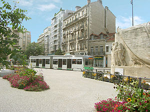 Saint-Étienne - Street tram in the city