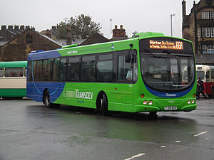 Transdev Blazefield - Transdev in Keighley Wright Eclipse bodied Volvo B7RLE in October 2011
