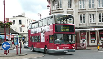 Surbiton - A London bus on route 71 travelling through Surbiton