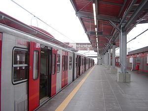 Transport in Lima - AnsaldoBreda Train in Villa el Salvador station