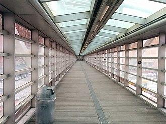 West Street pedestrian bridges - Tribeca Bridge, interior