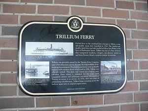 Trillium Ferry Heritage Toronto 2010 plaque.JPG