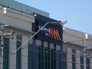 3MMM - Current Triple M Building signage (2008-Present), Clarendon Street, South Melbourne