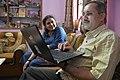 Trishna Basak Observes Speech To Text Conversion In Marathi From Subodh Kulkarni - Kolkata 2020-02-15 3201.JPG
