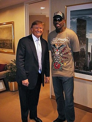 Dennis Rodman - Rodman with Donald Trump for Celebrity Apprentice