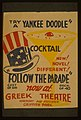 """Try a Yankee Doodle cocktail - New! Novel! Different! - """"Follow the parade"""" LCCN98507259.jpg"""