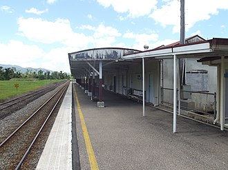 Tully railway station - Northbound view in January 2013