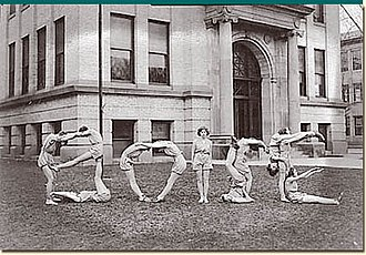 "Boise High School - ""Tumblers"" from 1933 edition of The Courier"