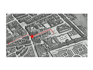 Plot of the rue Saint-Nicaise - The path of Napoléon's carriage during the plot of the rue Saint-Nicaise in Paris (December 24, 1800)
