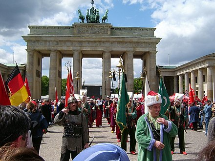 The Turks in Germany number about 4 million, which constitutes the largest Turkish community in Western Europe, as well as the largest within the Turkish diaspora. Turkisch-day-in-Berlin.jpg
