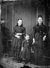 Two women and a girl