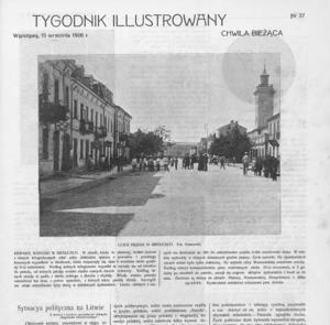 Siedlce pogrom - Early report about the pogrom in the Warsaw-based Tygodnik Ilustrowany weekly, September 15, 1906