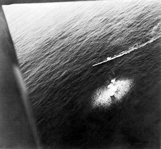 German submarine U-26 (1936) - U-26 under attack by a Sunderland flying boat on 1 July 1940.