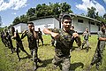 U.S. Marines assigned to a landing attack subsequent operations team conduct a combat conditioning exchange with Guatemalan marines as part of U.S. Marine Corps Martial Arts Program training during Southern 140819-N-XQ474-030.jpg