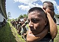 U.S. Marines assigned to a landing attack subsequent operations team conduct a combat conditioning exchange with Guatemalan marines as part of U.S. Marine Corps Martial Arts Program training during Southern 140819-N-XQ474-089.jpg