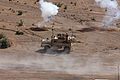 U.S. Marines with the 3rd Platoon, Transportation Support Company, Combat Logistics Battalion 6, 2nd Marine Logistics Group maneuver a mine-resistant, ambush-protected vehicle into firing position while 130522-M-ZB219-002.jpg