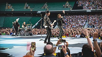 The Joshua Tree Tour 2017 - U2 opened shows on the tour by performing on the Joshua tree-shaped B-stage.