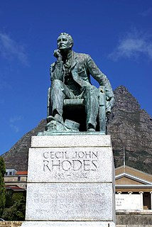 Rhodes Must Fall Anti-apartheid protest movement regarding statues at the University of Cape Town in South Africa