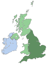 England's location within the British Isles