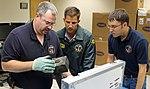 UPS Flight 1354 Recorders under examination in the NTSB Lab (9544477989).jpg