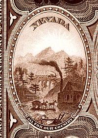 Ulusal Banknot Serisi 1882BB ters Nevada eyalet arması