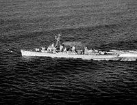USS Benham (DD-796) underway off the Brenton Reef Light Ship on 30 November 1951.jpg