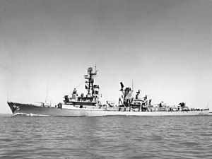 USS Claude V. Ricketts - Biddle during sea trials, 1962.