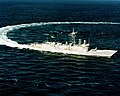 USS Clifton Sprague (FFG-16) underway during trials in 1980.JPEG