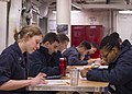 USS Fitzgerald Sailors take the E-4 advancement exam 160317-N-GW139-016.jpg