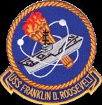 USS Franklin D. Roosevelt (CVA-42) insignia, in 1970 (NH 69462-KN).png