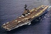USS Hancock (CVA-19) off Pearl Harbor 1968