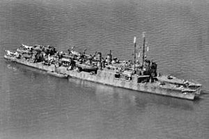USS Sands (DD-243) - USS Humphreys (APD-12) and USS Sands (APD-13) at Townsville in May 1943.