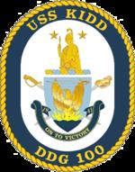 USS Kidd DDG-100 Crest