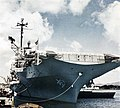 USS Oriskany (CVA-34) bow shot at Pearl Harbor 1962.jpg